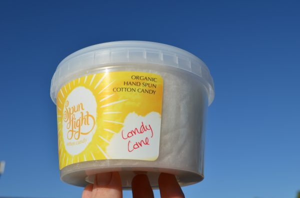 candy cane cotton candy tub