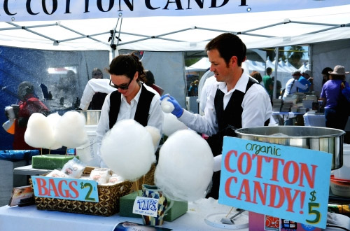 organic cotton candy at festival