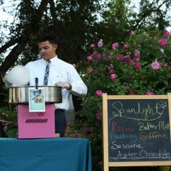 our professional cotton candy catering setup