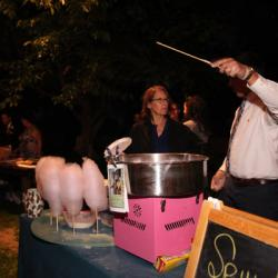 private event with cotton candy