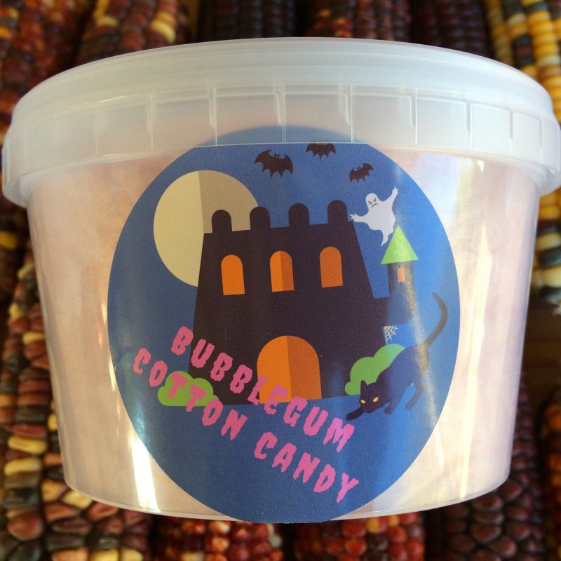Halloween candy - Bubblegum cotton candy